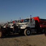 Our fleet of snow removal vehicles for civil and commercial snow plowing.